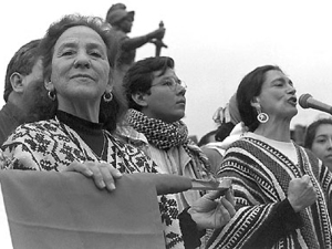 Ofelia Medina y Rosario Ibarra